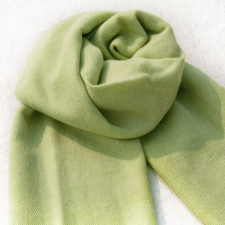 Wool shawl / knit scarf / knit shawl / blanket / pure wool scarf / wool shawl - matcha milk green