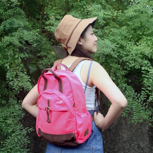 layoo to │ after [sandwich] leather waterproof canvas backpack