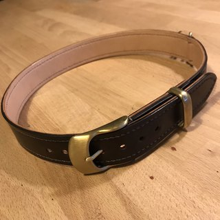 Hand-made leather dog leash