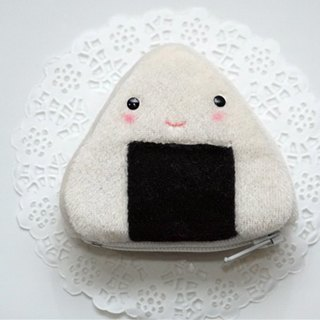 Bucute seaweed rice ball wallet / birthday gift / exchange gift / Christmas gift / hand made
