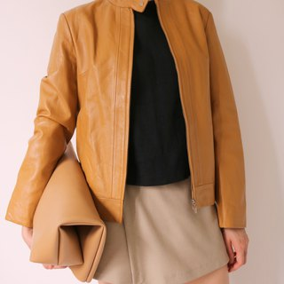 Lea Jacket Caramel Color Leather Jacket (Old Fashioned)