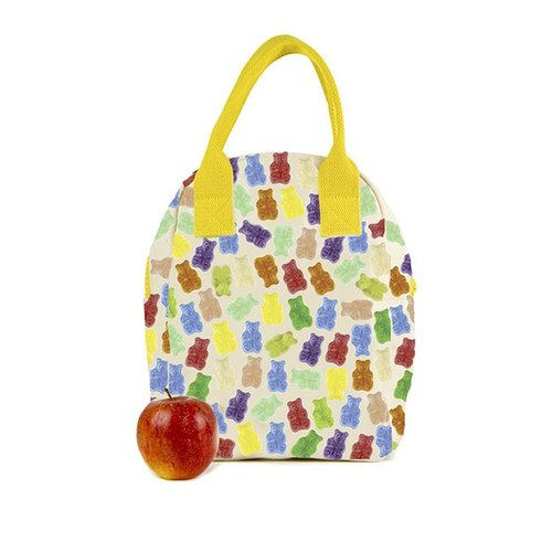 Canadian fluf organic cotton zipper with the bag] - Gummy Bear