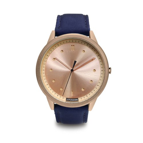 HYPERGRAND - 02 basic models series - rose gold dial x blue pilots watches