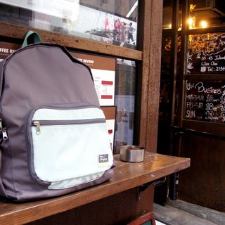 Travelholic Foldable backpack Design for all city riders - Grey - Light blue