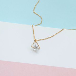 N IS FOR NEVERLAND Dream Traveler Herrington Crystal Bling Diamond US 14kgf Note gold-clad necklace