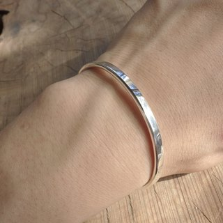 Exclusive order - Hao - plain noodles silver bracelet plus manual knocking (two into)