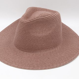 [Paper cloth home] big hat gentleman hat (grape purple) paper line weaving
