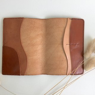 自然風好感護照夾_皮革手工縫製 Handcraft Passport holder