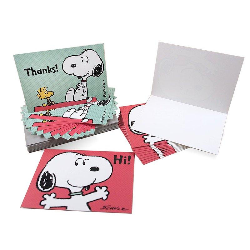 Snoopy精裝盒卡-史努比說嗨【Hallmark-Peanuts 問候感謝】