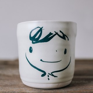 Brut Cake Handmade pottery - smiling mug 280ml-6 (12/31/2016 before buying comes Kofu coaster a)