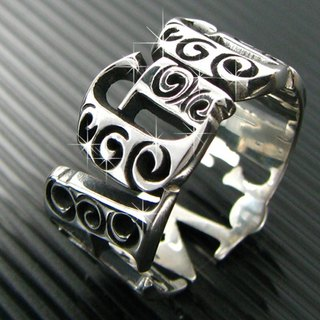 Customized .925 sterling silver jewelry name ring style RSNT00025-