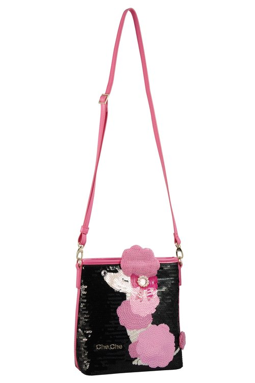 Poodle Beaded Shoulder Bag