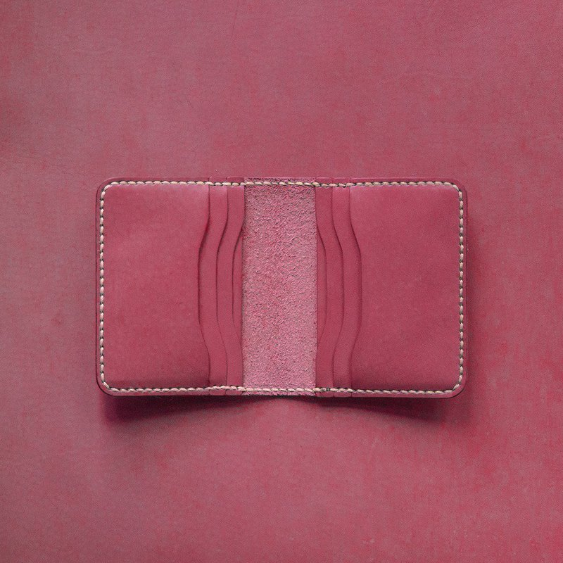 6-Card Card Holder-Round。Leather Stitching Pack。BSP066