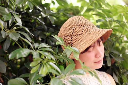 [] A good day for the summer Lingge hand woven rattan straw hat (for dark adults)