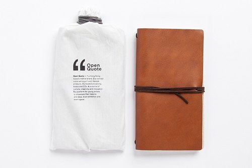 皮革筆記本/手帳 LEATHER NOTEBOOK - Light Brown | LENB-002