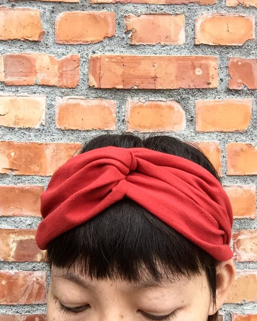 Coral cotton wide headband hair band