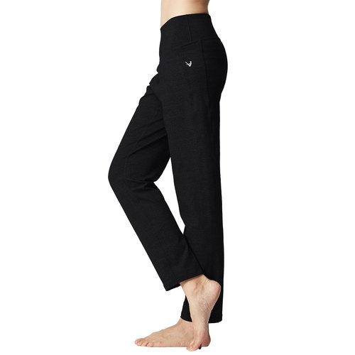 [] US MACACA Xingshou belly elegant life Trousers - ATG7691 black (yoga / jogging / fitness / light movement)