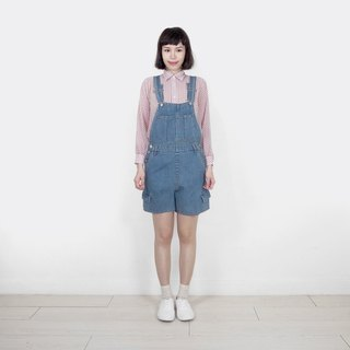 Vintage denim vintage suspender shorts BL9027