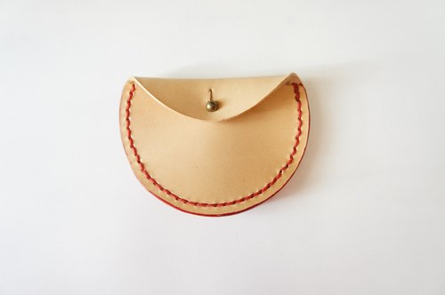Tibetan small purse - handmade / leather leather
