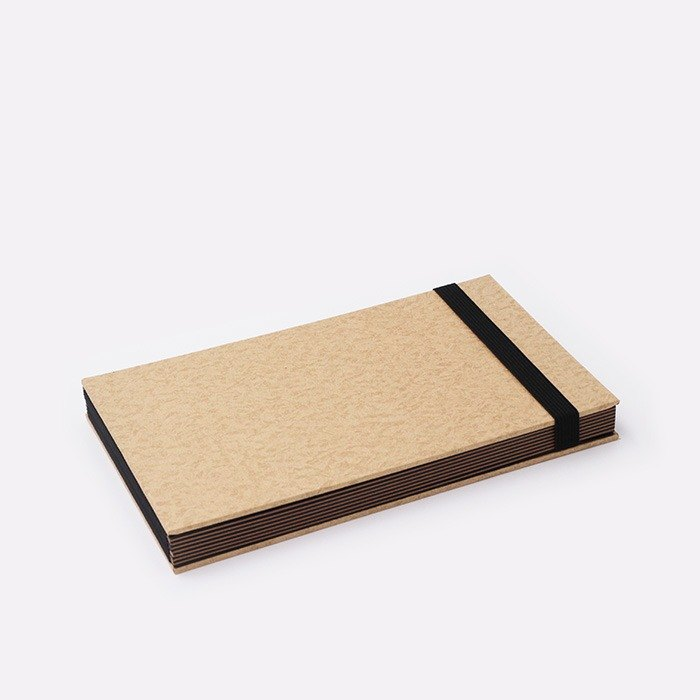 Three summer light years classic solid color strap books section DIY album creative gifts small rectangular (leather)