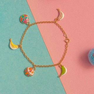 Temari little bird bracelet