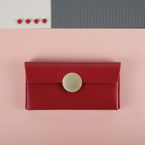 TREBLE Z / ECLIPSE 2018 new original design leather long wallet / Clutch red