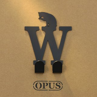 [OPUS Dongqi Metalworking] When the cat encounters the letter W - hook (black) / wall hanging hook / no trace /