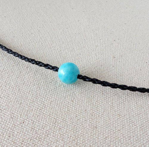 "[Opium poppy ﹞ ﹝ love ‧ chain] Silver ****fashion ""lucky stone"" ice kinds of amazonite necklace***[2]***"