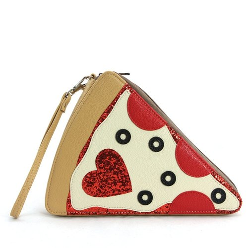Sleepyville Critters - Pepperoni Slice Pizza Wristlet