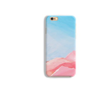 Mountain Pattern Matt hard Phone Case iPhone X 8+ 7 6 S8 plus Samsung S8 S7 LG