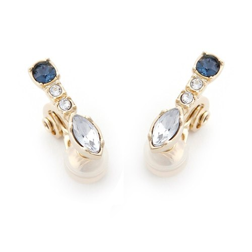 [JewCas] Air Earrings series elegance Crystal ear clip _JC2442 air