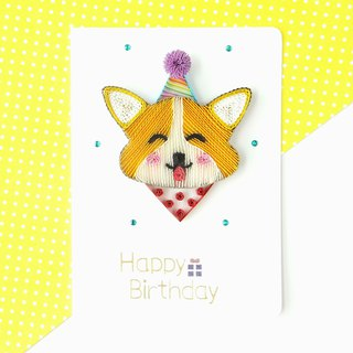 Hand made decorative cards- Corgi