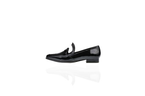 ZOODY / outline / hand shoes / flat baskets Airlove shoes / mirror black