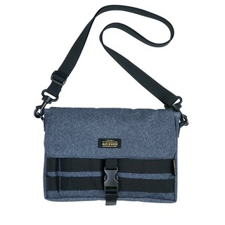 Matchwood Design Matchwood Sacoche Waterproof Small Bag Taiwan Fine MIT waterproof Denim Blue