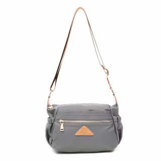 Simple water repellent diagonal backpack / shoulder bag / cell phone bag / shoulder bag / gray # 1020