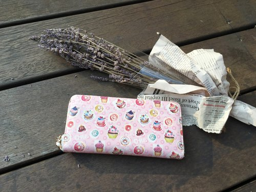 "Handmade Gifts ""double sandwich long list"" small dessert wallet long clip / New Year Valentine's Day gift exchange"