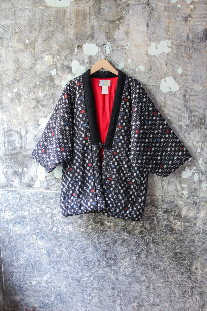 袅袅 Department Store-Vintage Japanese Black Brushed Coat