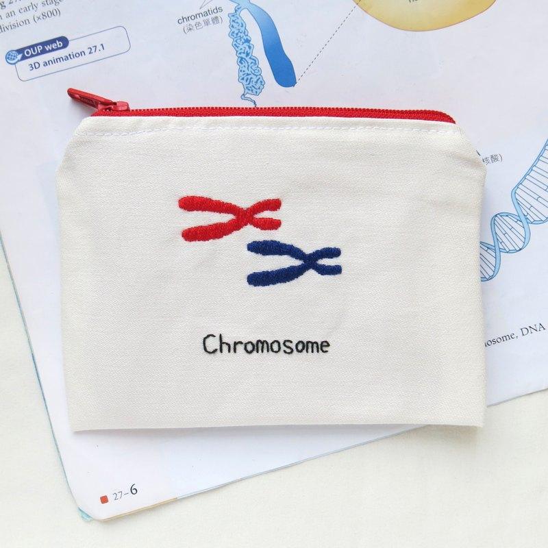 染色體 Chromosome / 生物學 零錢包 筆袋