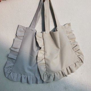 Striped lace bag two colors
