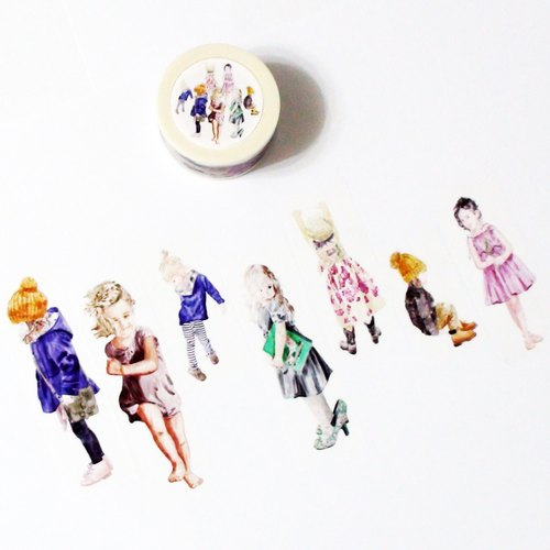 Masking Tape Little Girls