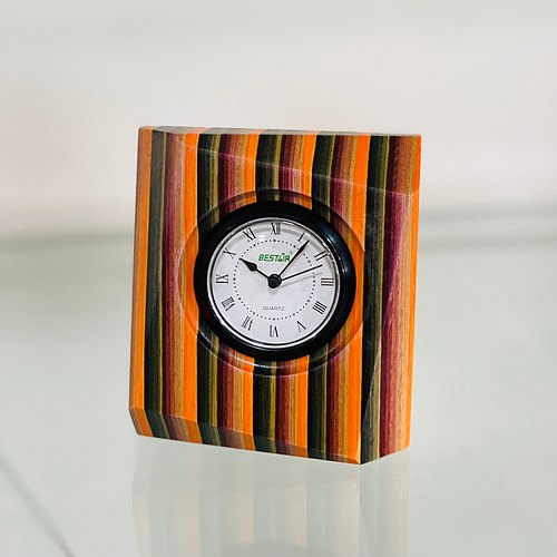 【BESTAR】RAINBOW WOOD DESK CLOCK (1PC)