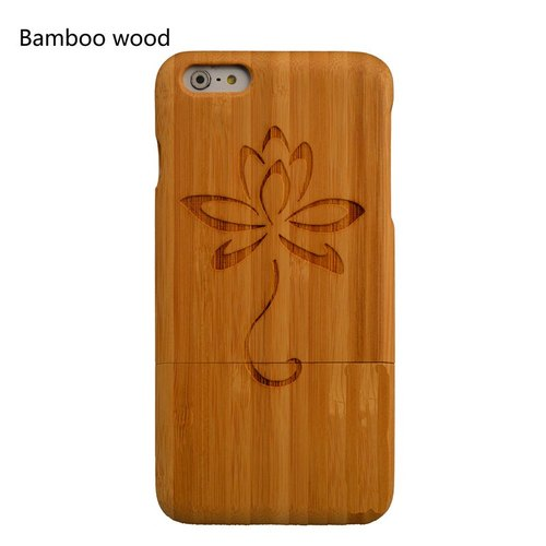 Lotus personalized custom laser engraving natural iPhone 6 / 6s / 6 plus / 6s plus / 7/7 plus wood dry Phone Case