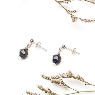 <Pet Love Series-Journey>Calendrite 925 Sterling Silver Earrings Customized Natural Stone Tanabata