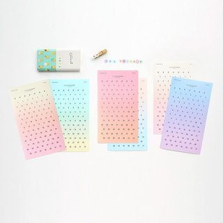 Livework Fantasy Gradient 123 Digital Sticker 5 Color Set (10 In), LWK56207S