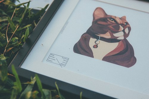 Pet Planet customized pet illustration pet cats illustration Frame bust