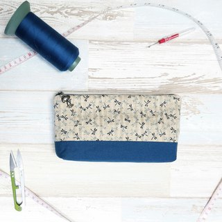 Dragonfly  - cosmetic zipper  pencil bag