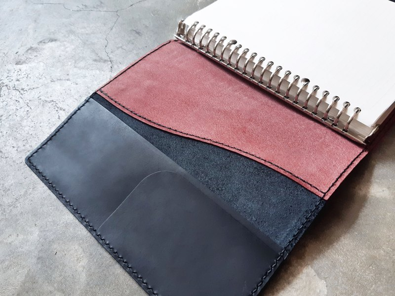 Two-color book cover well stitched leather material bag handmade bag notebook book opening school DIY vegetable tanned