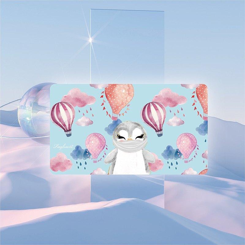 快速出貨  【銀離子抗菌口罩盒】戴口罩的企鵝寶寶