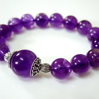 """King Heart of King"" Famine Amethyst classic neutral bracelet"
