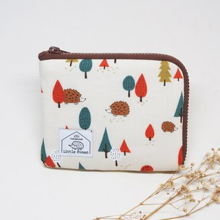 Ticket card purse <Forest hedgehog>